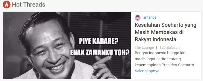 Kesalahan Soeharto yang Masih Membekas di Rakyat Indonesia