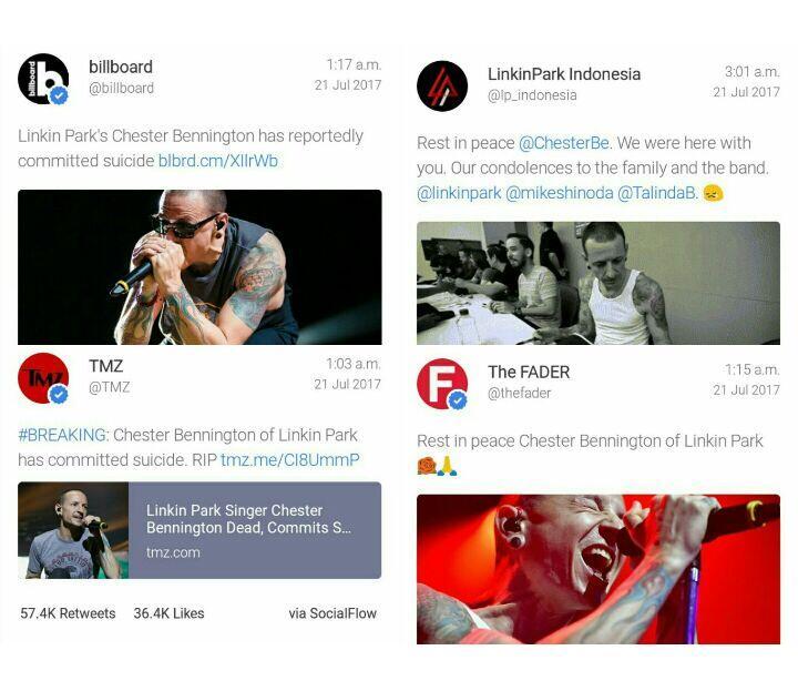 Vokalis Linkin Park Meninggal Bunuh Diri di Usia 41
