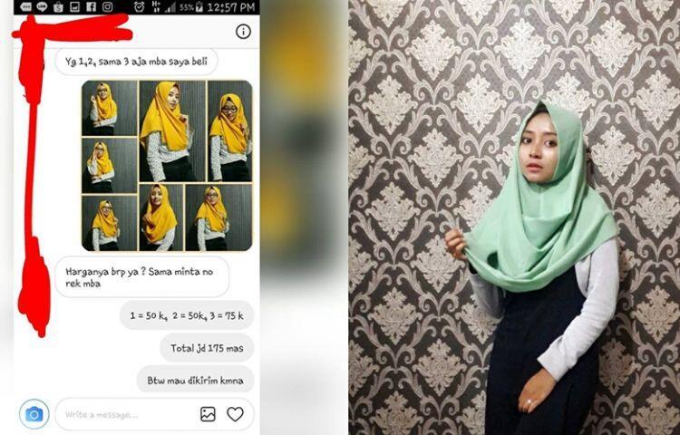 Chat pembeli dengan penjual jilbab olshop ini endingnya epik banget