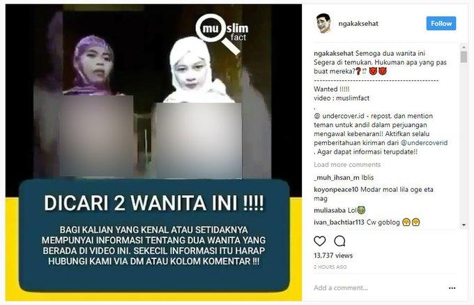 2 Wanita Indonesia Paling Dicari Saat Ini, karena Ulah yang Sangat Melecehkan