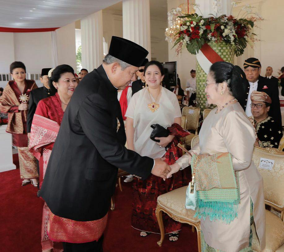 SBY Dan Megawati Gabung Jokowi Di Istana. Prabowo, Amien