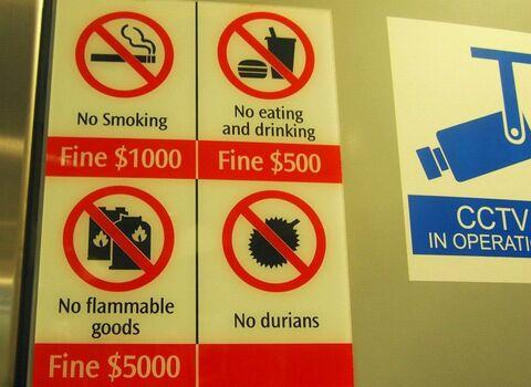 Singapura, Negara Dengan Berbagai Macam Denda
