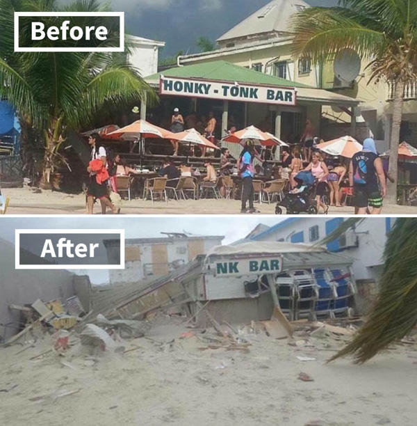 Foto Sebelum dan Sesudah Badai Irma Menerjang