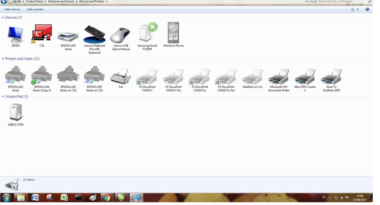 Epson L210 Scanner Sharing