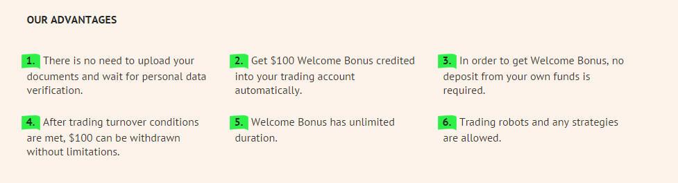 Bonus $100 dari forex metal