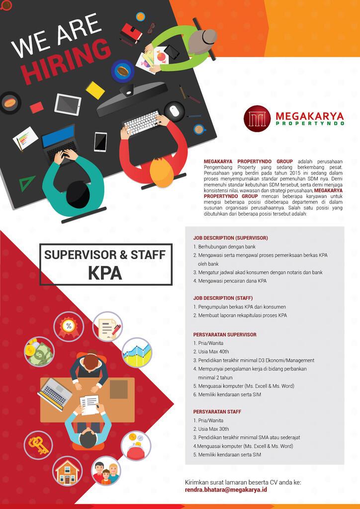 Dibutuhkan Supervisor dan Staff KPA