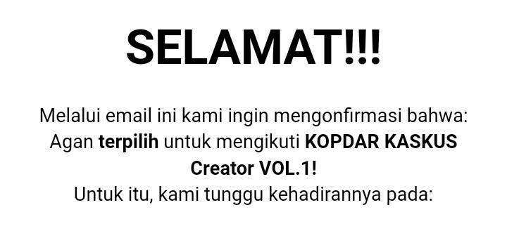 Kopdar Kaskus Creator Vol . 1 ! Apakah itu? Ayo Cari Tahu