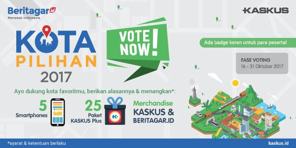 [Kota Pilihan 2017] Nomine Kota Juragan, Pilih Di Sini Gan!