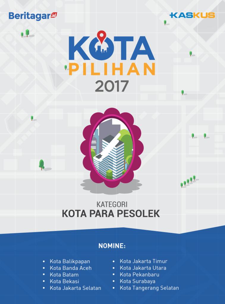 [Kota Pilihan 2017] Nomine Kota Para Pesolek, Pilih Di Sini Gan!