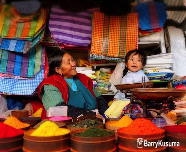 San Camilo pasar tradisional unik di PERU.