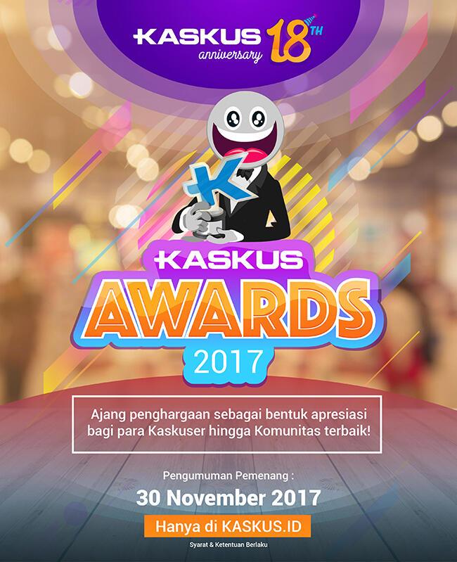 Rayakan Anniversary KASKUS Dalam Ajang KASKUS Awards 2017 Yuk!