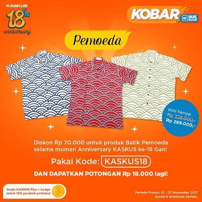 KOBAR Spesial Ulang Tahun, Pakai Kode Promo KASKUS18 dan Gratis KASKUS Plus!