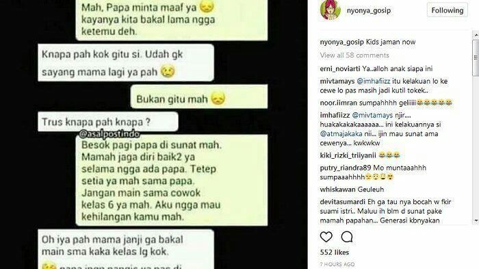 Isi Chat 'Kidz Zaman Now' Anak SD Pamit ke Pacarnya Karena Mau