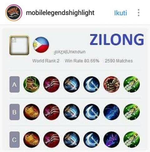Build Mobile Legend