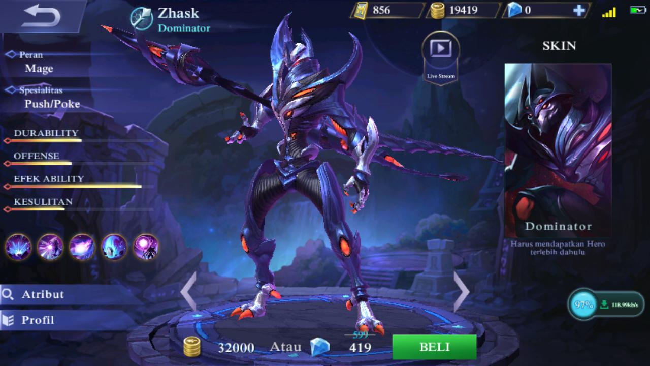 Guide Zhask Mobile Legend, Build, Skill, Ability, Set Emblem, Tips Menggunakannya
