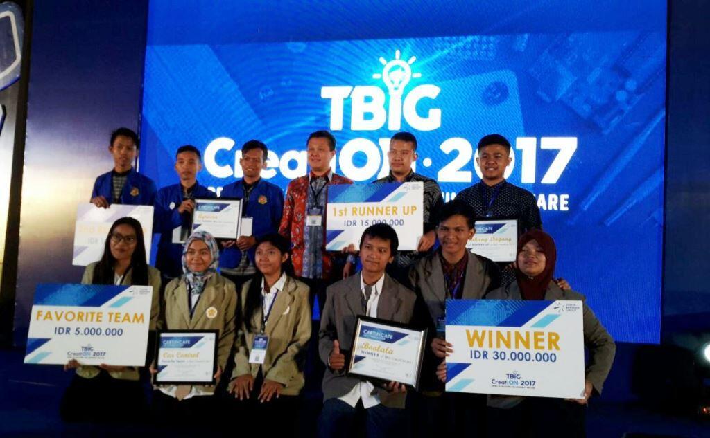 Tim UKDW Juara Kompetisi TBIG CreatiON 2017