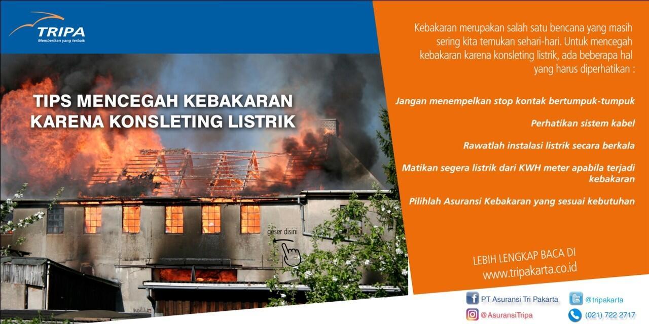 Tips Mencegah Kebakaran Karena Korsleting