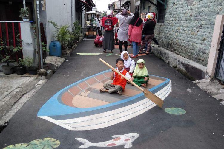 Melihat Lukisan Jalan dan Zebra Cross 3D Depok Timur yang Kreatif