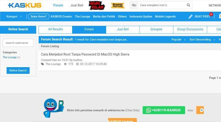Cara Menjebol Root Tanpa Password Di MacOS High Sierra
