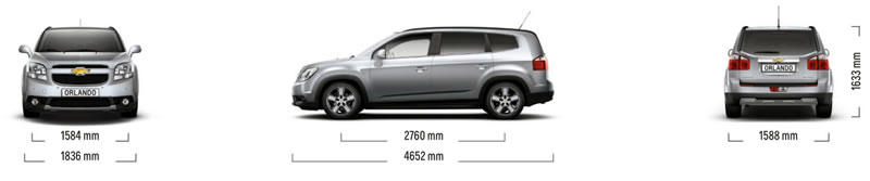 CHEVROLET ORLANDO ---> 7 seater medium MPV