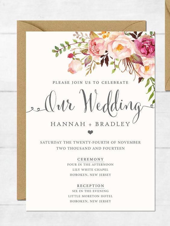 12 inspirasi desain undangan pernikahan yang kekinian