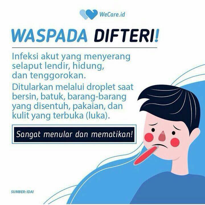 Indonesia Dilanda Wabah Difteri