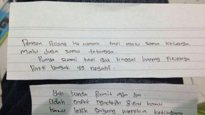 Korban Mutilasi di Karawang Sempat Tulis Sepucuk Surat, Ini Isinya