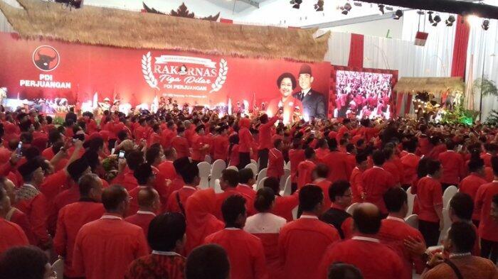 Presiden Jokowi Hadiri Rakornas Tiga Pilar PDI Perjuangan