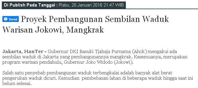 Jokowi minta Anies segera 'action' atasi banjir di DKI, jangan hanya teori