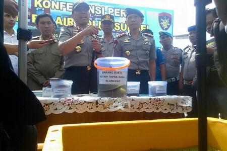 Polisi Bongkar Penyelundupan 115 Kg Telur Ketam Tapak Kuda