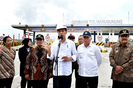 Presiden Resmikan Tol Surabaya-Mojokerto