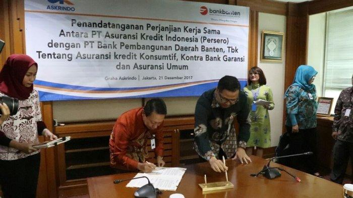 Bank Banten Kini Jadi Agen Pemasar Produk Asuransi Kredit Askrindo