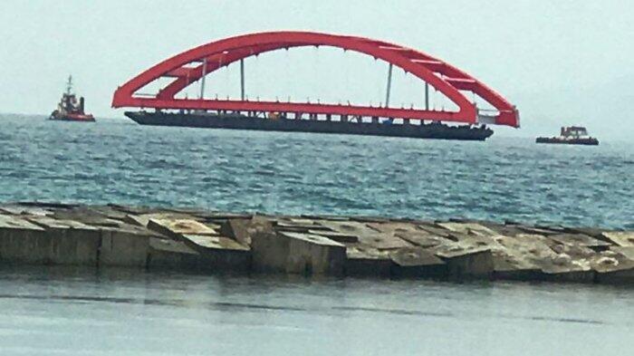 Jembatan Holtekamp Telah Sampai di Jayapura Lebih Cepat dari Target Semula
