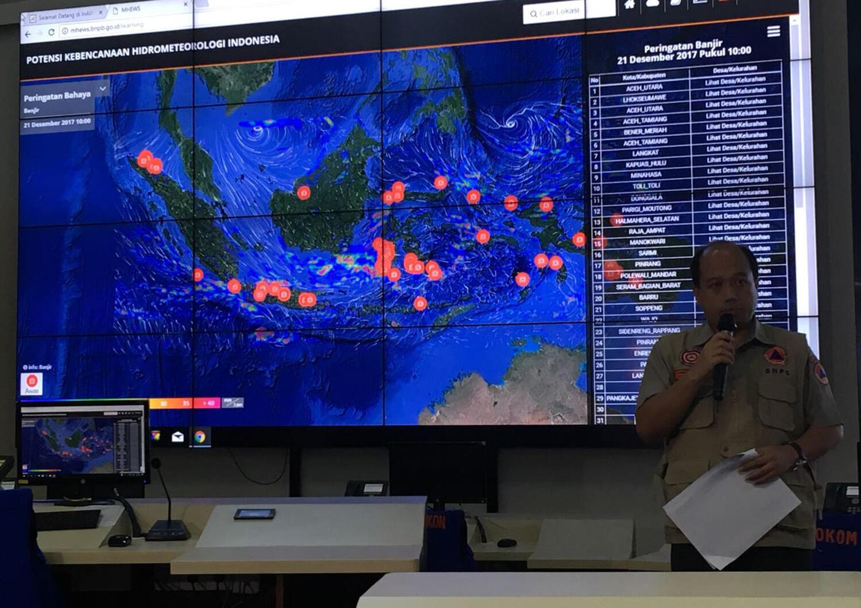 BNPB Mencatat Ada Penurunan Tingkat Bencana Sepanjang Tahun 2017