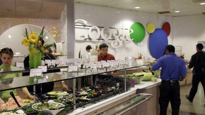 Karyawan Perusahaan Sekelas Google Apa Ya Makanannya? Yuk Intip Menu di Kantinnya