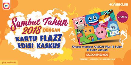 Sambut Tahun Baru dengan Kartu Flazz KASKUS , Gratis Gan!
