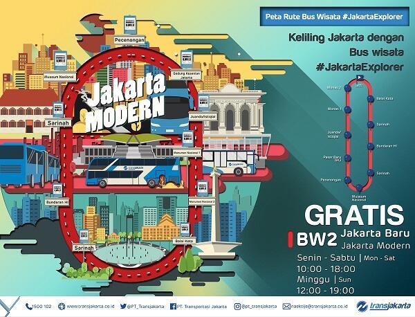 Naik Bus Tingkat Gratis Keliling Jakarta? Begini Caranya!