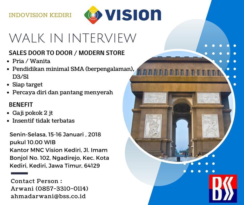 Mnc Vision Open Recruitment On Madiun Kediri Kaskus