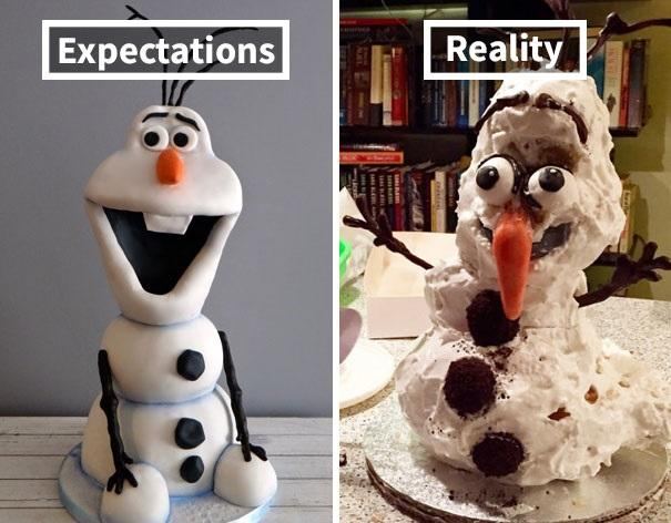 5 Ekspetasi Vs Realita kue ulang tahun