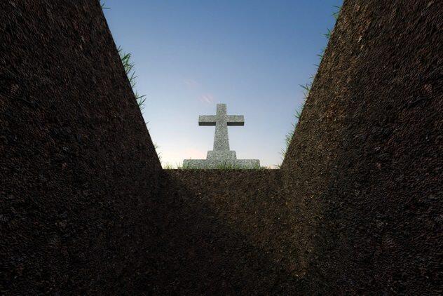Kisah-kisah kebangkitan dari kubur pada abad ke-18. antek pangeran kegelapan masuk.