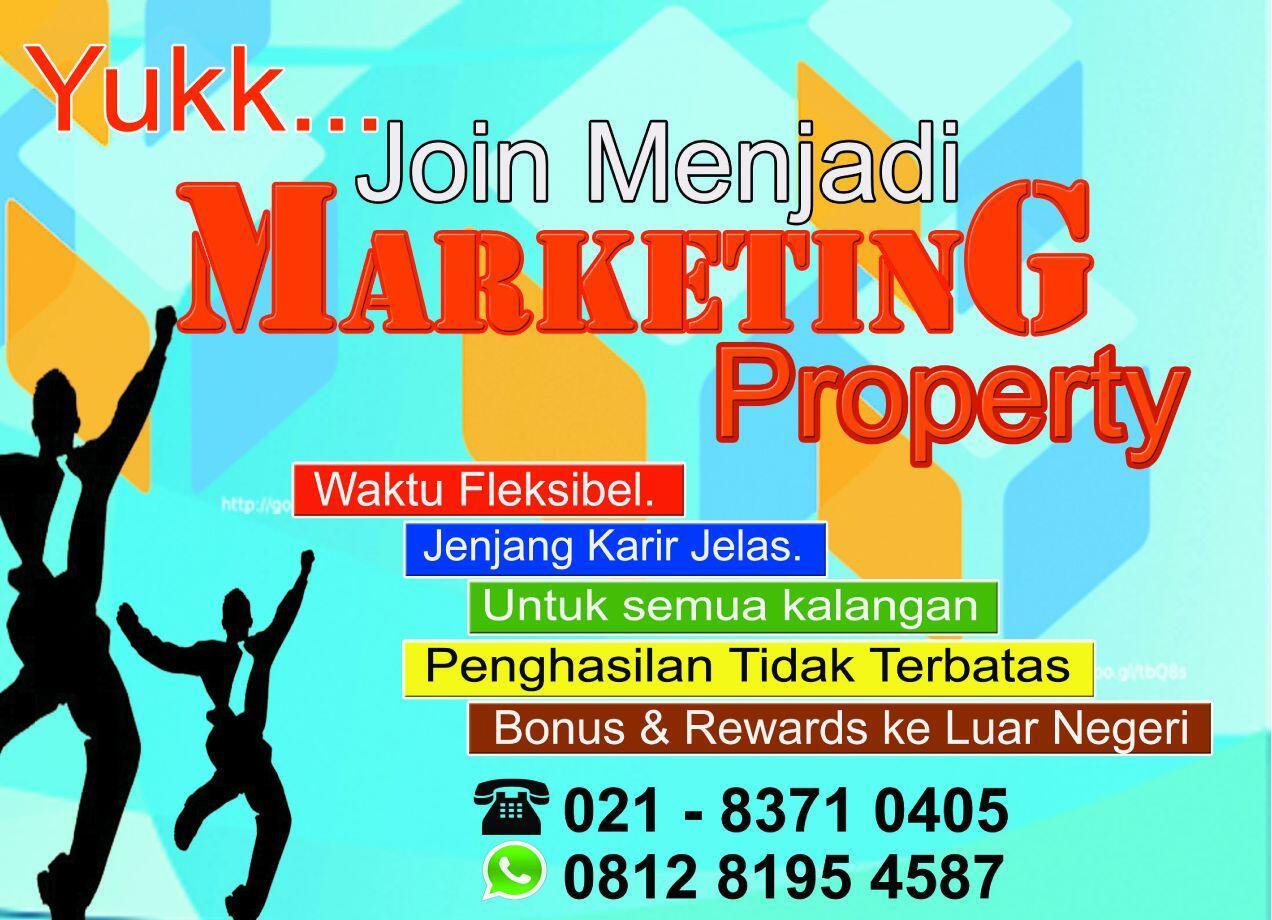 [JAKARTA, DEPOK, BOGOR] Lowker Marketing Properti Part time UNLIMITED INCOME