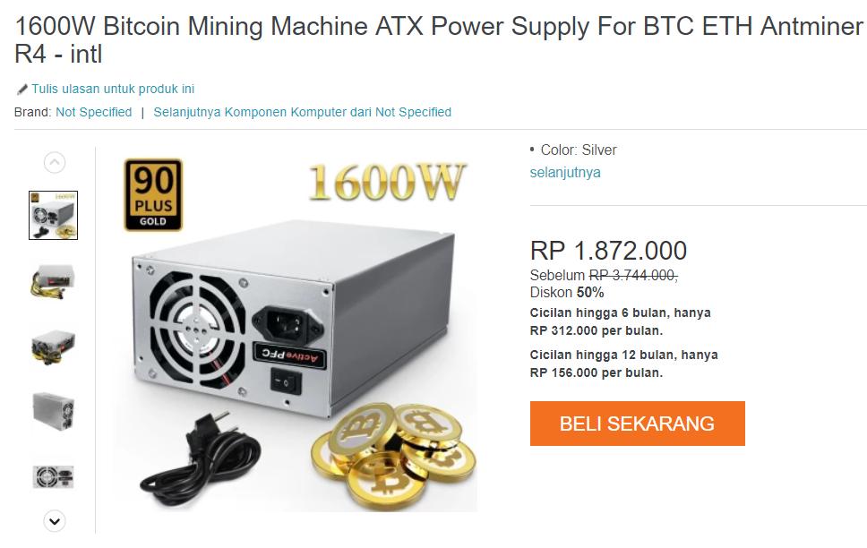 Alat penambang bitcoin kaskus jual beli
