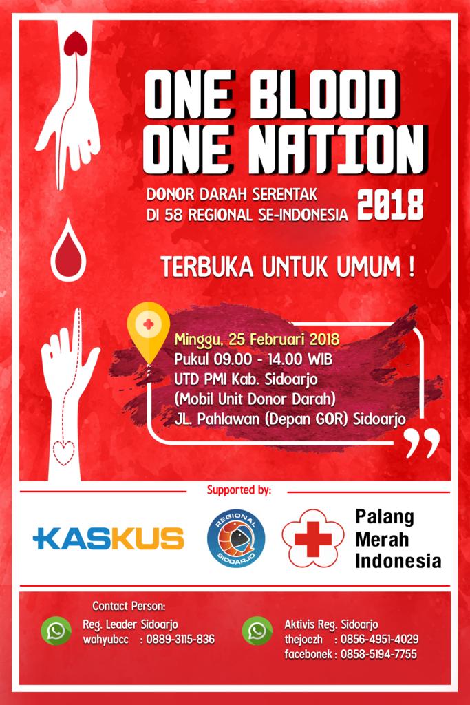 "[INVITATION] ""One Blood One Nation 2018 - Serentak di 58 Regional"""