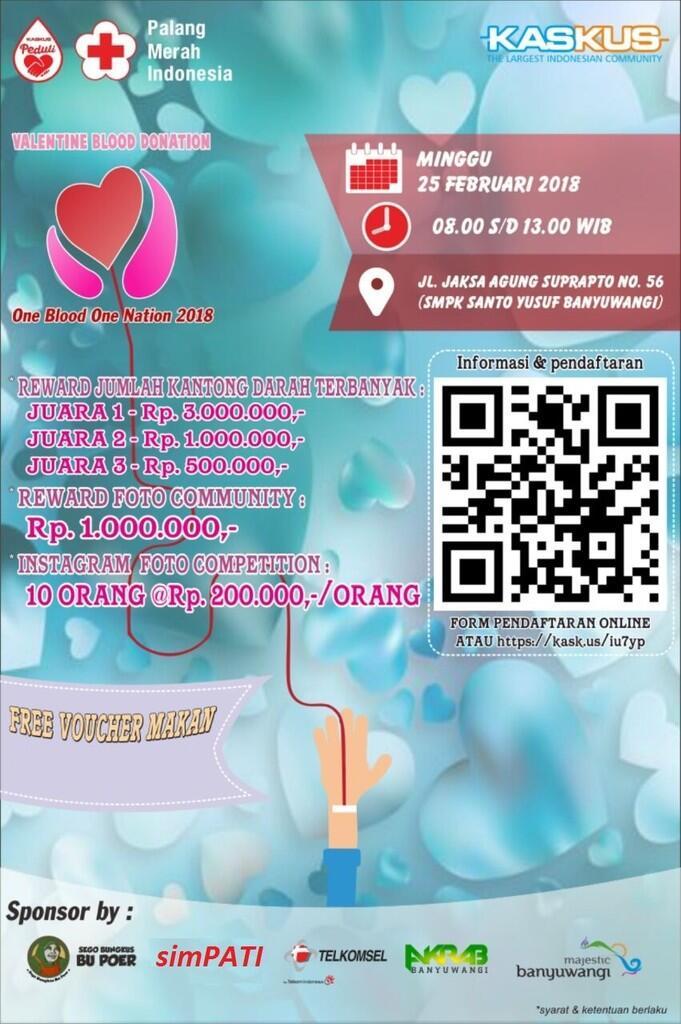 [MURI] Donor Darah serentak di Bulan Kasih Sayang