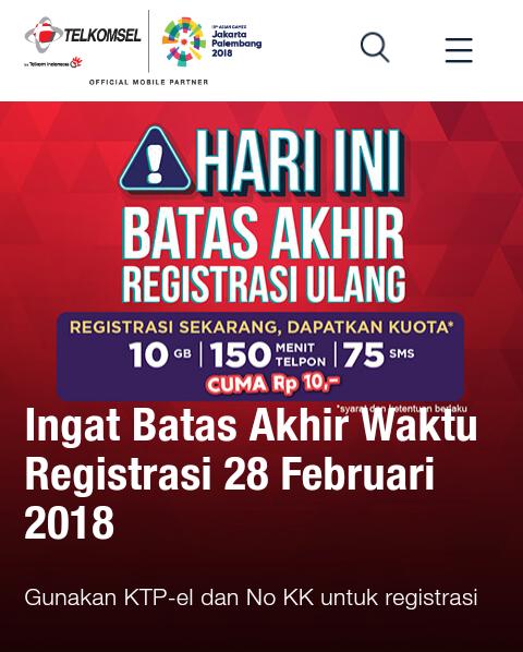 Cara Registrasi Ulang Kartu Sim Prabayar Simpati As Xl Indosat