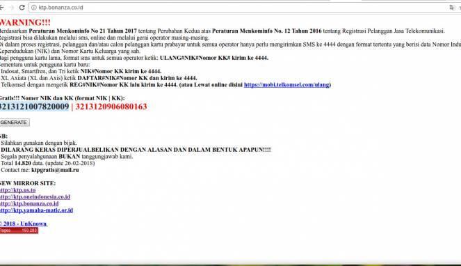 Ada Situs Umbar NIK dan KK Gratis untuk Registrasi Prabayar   KASKUS