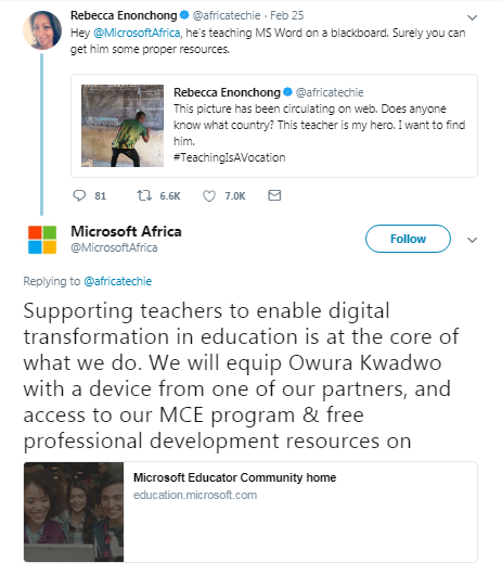 Masih Ingat kisah Guru Ghana Yang Menggambar MS Word ? Begini Tanggapan Microsoftnya