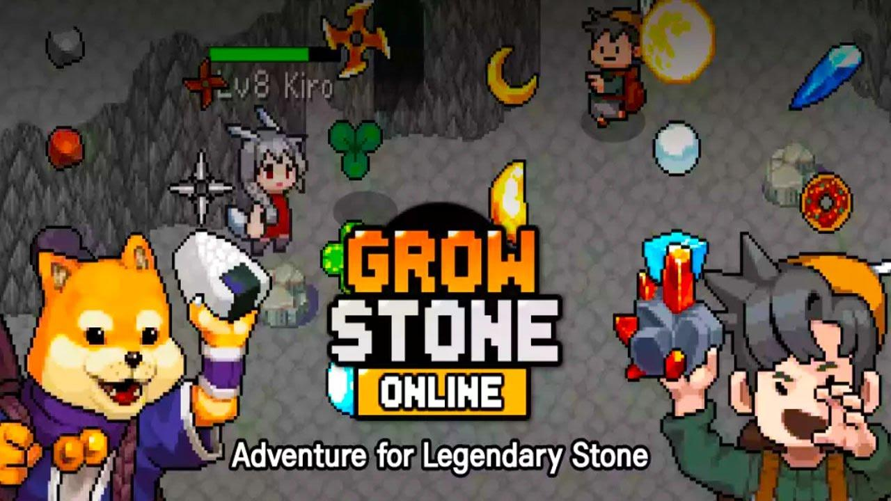 Grow Stone Online : 2D pixel RPG and MMORPG (suka AFK ? ni ...