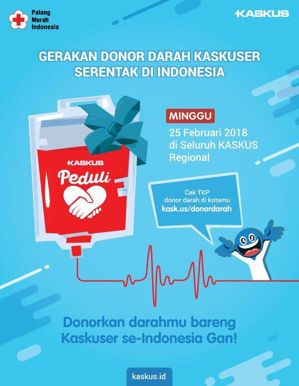 """[FR] KASKUS DONOR DARAH """"One Blood One Nation 2018"""" RKB - Part 1"""