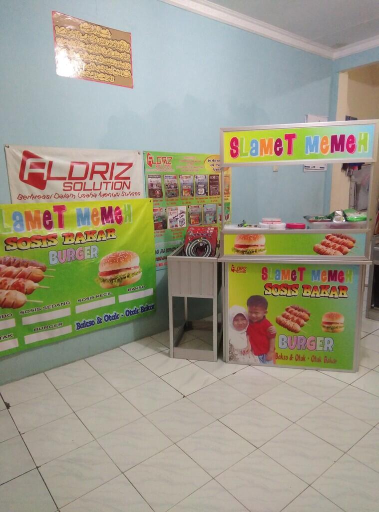 Banner Sosis Bakar Dan Burger - gambar spanduk